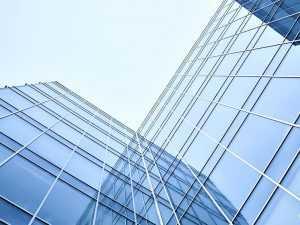 hydrophobic glass facade