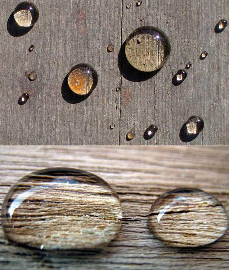 wooden water repellent